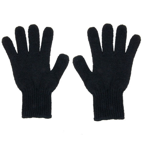 Men's Black Wool Gloves