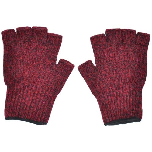 Ragg Wool Fingerless Gloves- 3 Colors