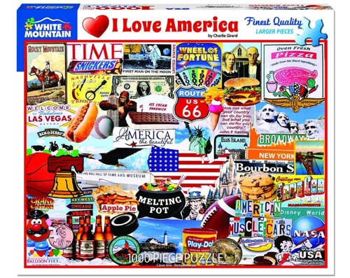 I Love America - 1000 pieces