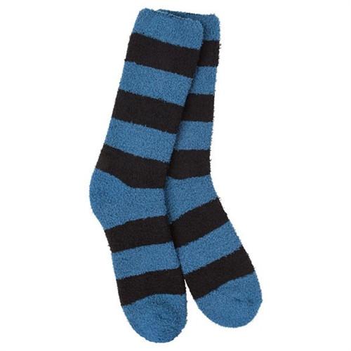 Sleeper Socks Striped Blue and Black