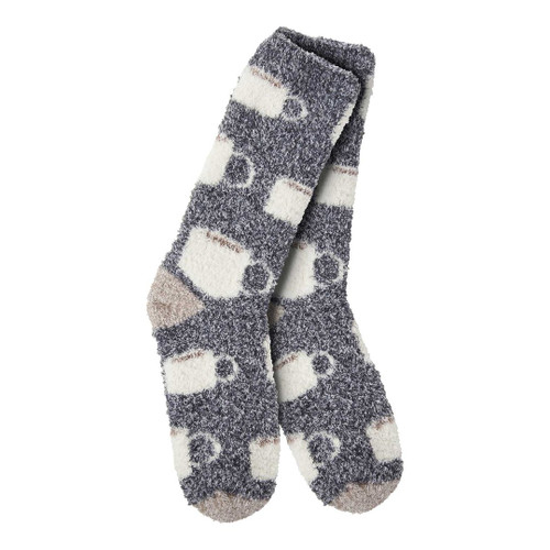 Fuzzy Java Crew Socks