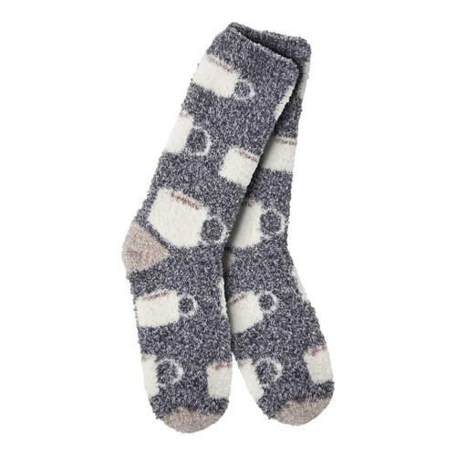 Fuzzy Java Crew Socks