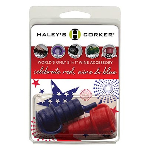 Haley's Corker for Corked Bottles - Red/Blue Set