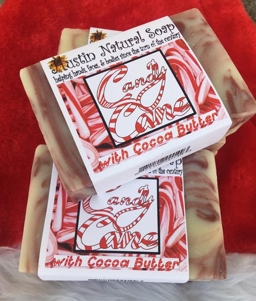 Candy Cane Peppermint & Cinnamon Soap