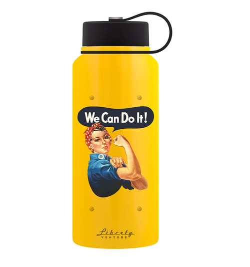 """We Can Do It"" Double-Wall  Insulated Bottle"
