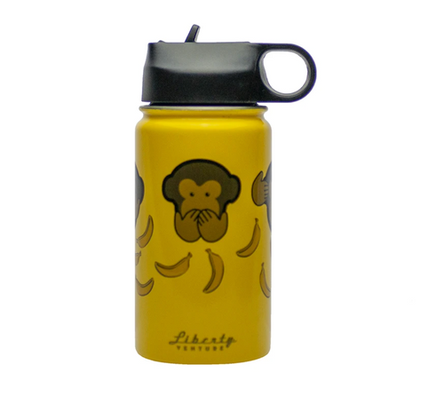 No Evil Monkey Insulated Bottle