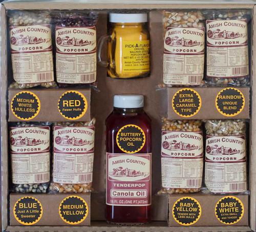 Amish Country Popcorn 8 Bag Gift Box