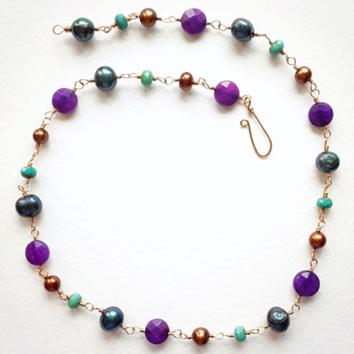Purple Jade Boho Necklace