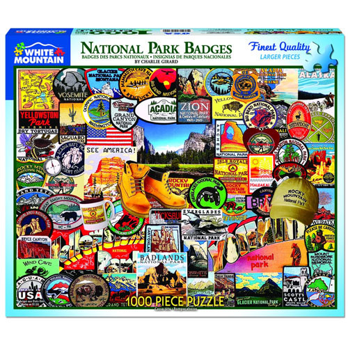 National Park Badges Jigsaw Puzzle - 1000 pieces