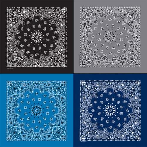 4 bandana choice color printed on both sides