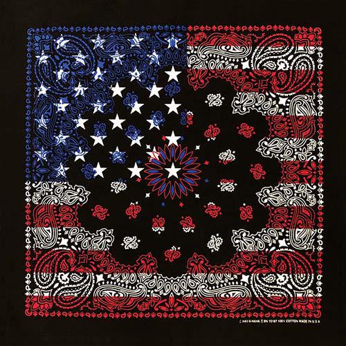 Black USA Flag Printed on one side