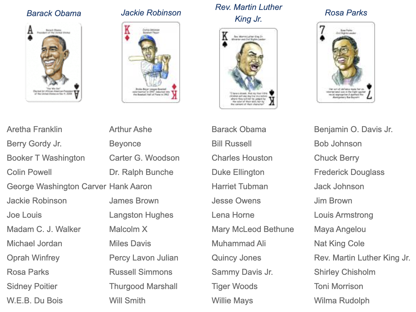 black america playing cards