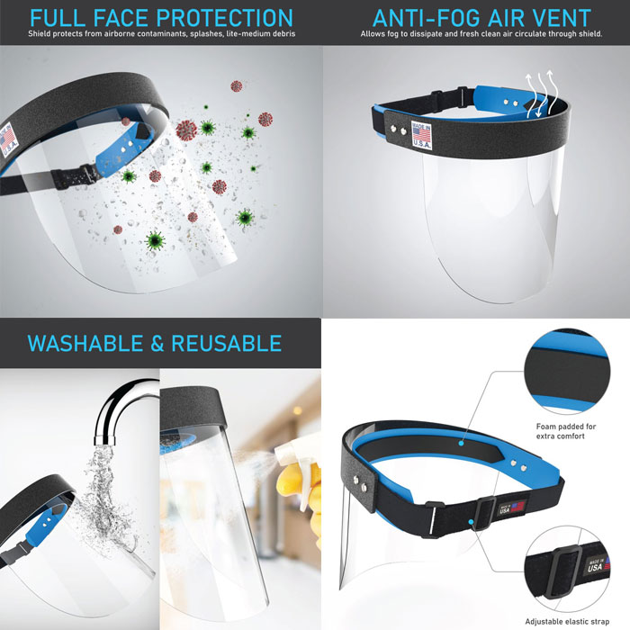 Face Shield Made in USA
