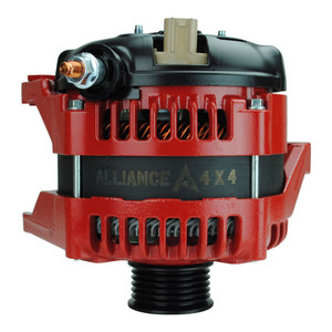 High Amperage Alternator for 1999-2006 TJ Jeep Wrangler 4.0L - RED