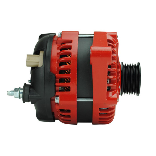 High Amperage Alternator for 1991-1998 XJ/YJ/TJ Jeep Wrangler 4.0L - RED *will also fit 1991-2002 (2.5L) & 1991-2001 XJ (All Engines)