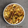 certified organic papaya chips / pieces