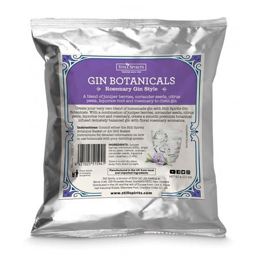 Gin Botanicals Rosemary Gin Style | Free Shipping