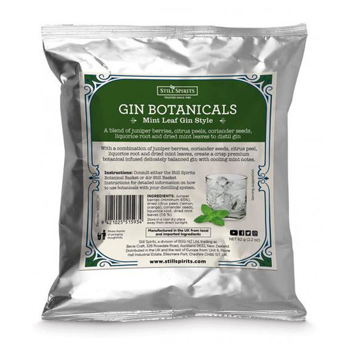 Gin Botanicals Mint Leaf Gin Style | Free Shipping