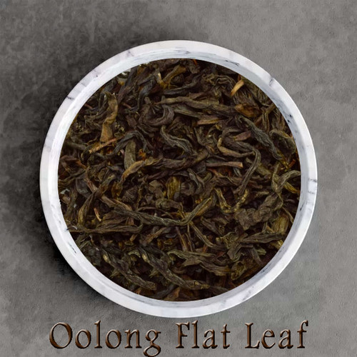 certified organic oolong / wu-long flat leaf tea