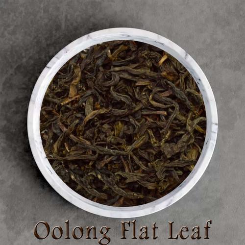 certified organic oolong / wu-long flat leaf tea