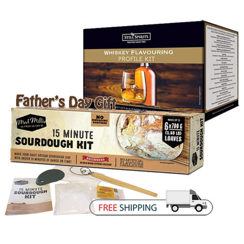 Whiskey Profile Pack & Sourdough Kit   Father's Day Gift   Free Shipping