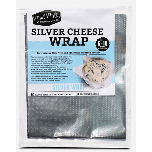 Silver Cheese Wrap (240x240) 10 Sheets