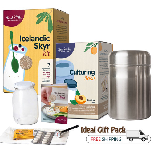 Icelandic Skyr Kit with Culturing Flask