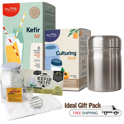 kefir starter kit with Culturing Flask