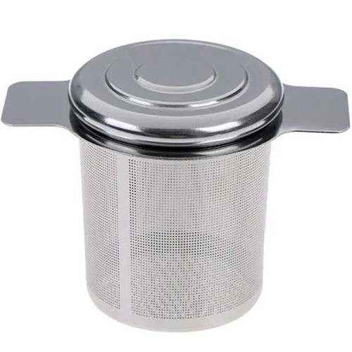 stainless steel mesh tea infuser with lid