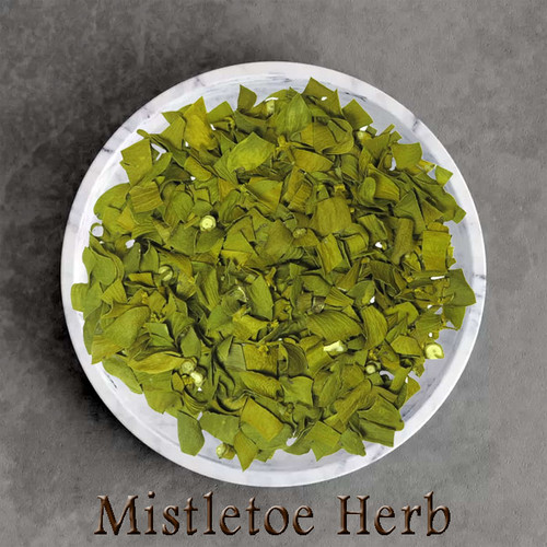 wildcrafted mistletoe herbal tea