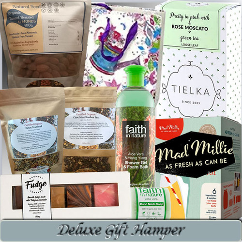 DELUXE GIFT HAMPER WITH ORGANIC & GLUTEN-FREE