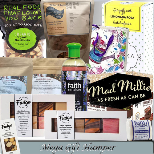 MEGA GIFT HAMPER WITH ORGANIC & GLUTEN-FREE PRODUCTS
