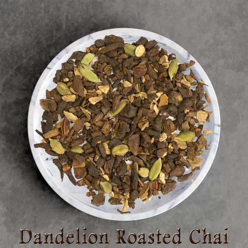 certified organic dandelion roasted chai tea