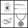 Personalized  Hockey pendant necklace with name and number