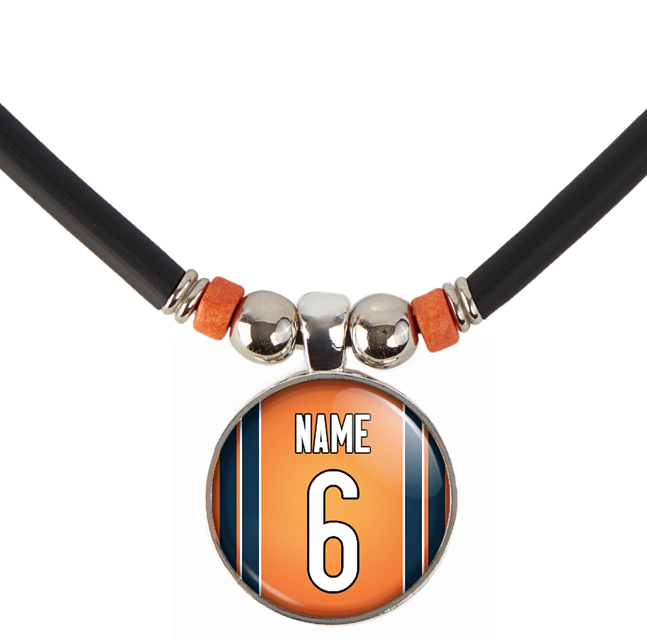 newest ec1c2 8cdc3 Personalized Chicago Bears Jersey Necklace With Name and Number