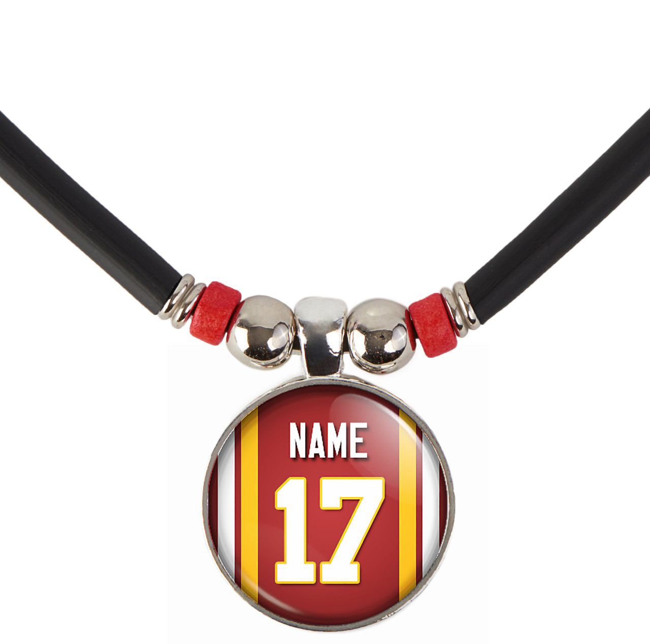 new concept f35be b50fc Personalized Washington Redskins Jersey Necklace With Name and Number