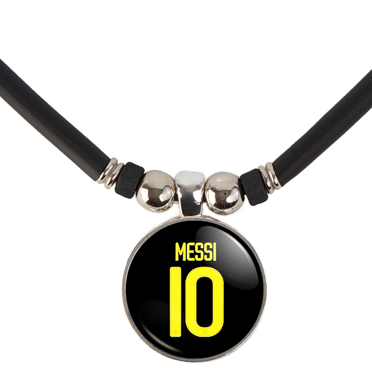 sports shoes bb6a4 14bb5 Messi Black Jersey Necklace