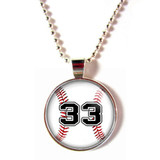Baseball Cabochon glass necklaces