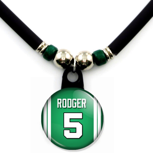 Personalized Boston Celtics Jersey Necklace with Name and Number