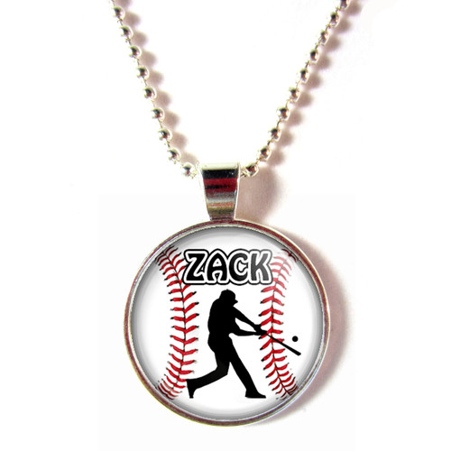 personalized baseball batter necklace