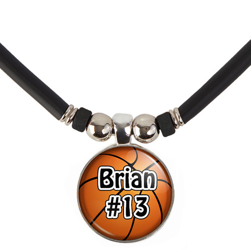 Custom Basketball Necklace with your Name and Number