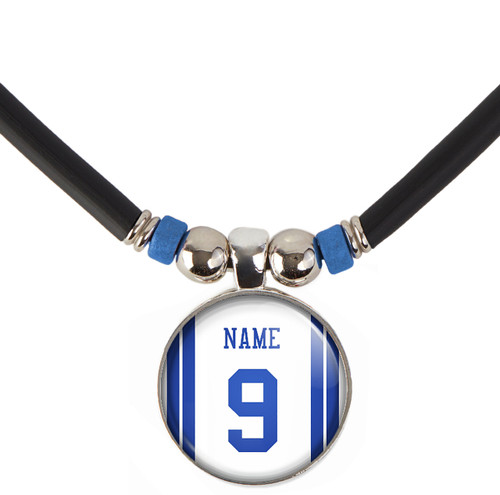 Personalized Dallas Cowboys Necklace With Name and Number