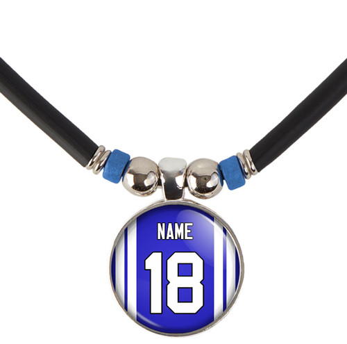 Personalized Indianapolis Colts Necklace With Name and Number