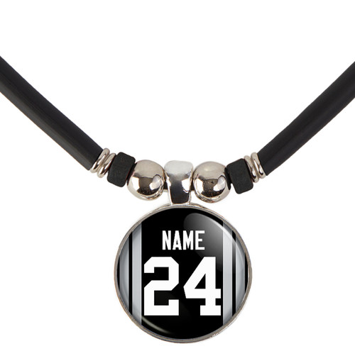 Personalized Oakland/Las Vegas Raiders Necklace With Name and Number