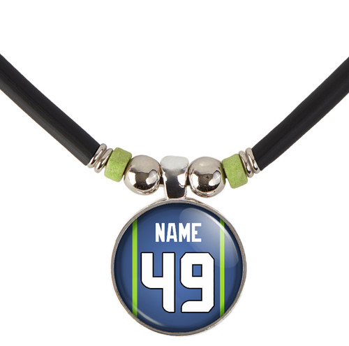 Personalized Seattle Seahawks Necklace With Name and Number