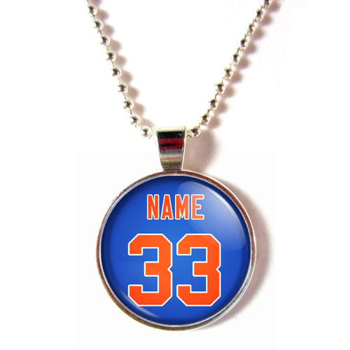 New York Mets glass necklace
