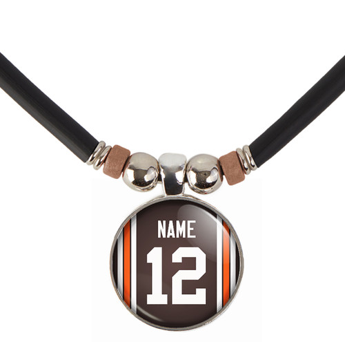 Personalized Cleveland Browns Necklace With Name and Number