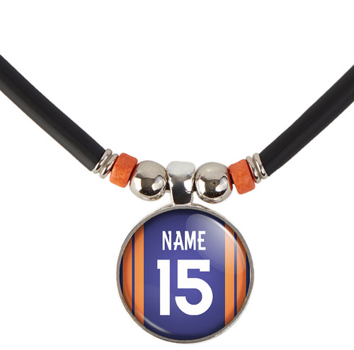 Personalized Denver Broncos Necklace With Name and Number