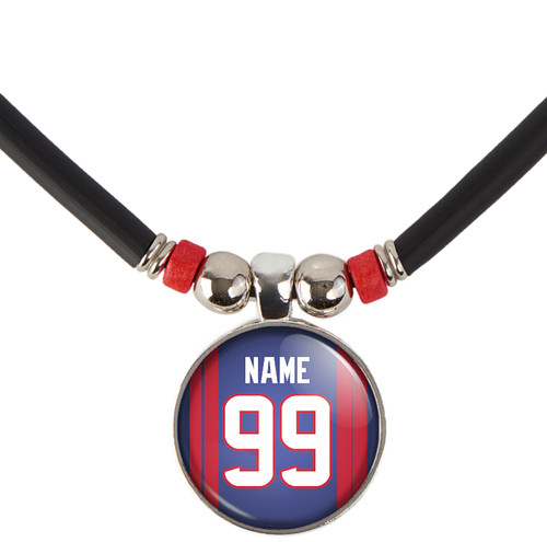 Personalized Houston Texans Necklace With Name and Number