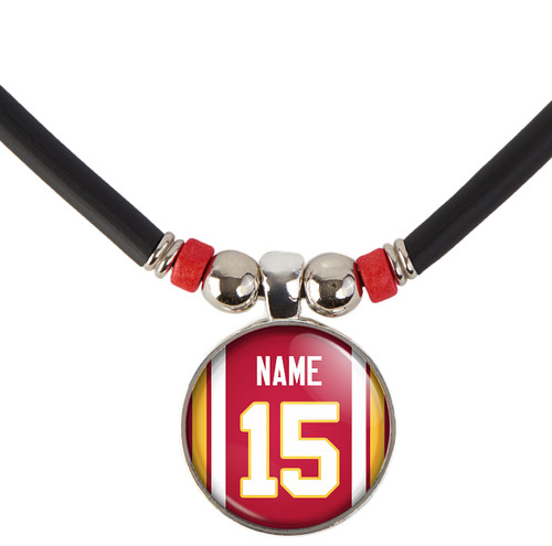 Personalized Kansas City Chiefs Necklace with Name and Number